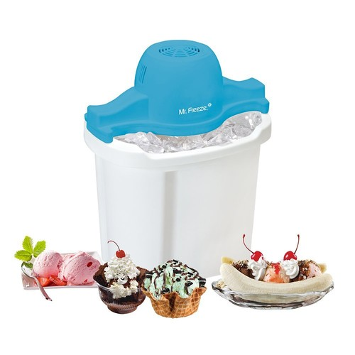 MaxiMatic EIM-404 Mr Freeze Electric Ice Cream Maker, 4-Quart, White [White]