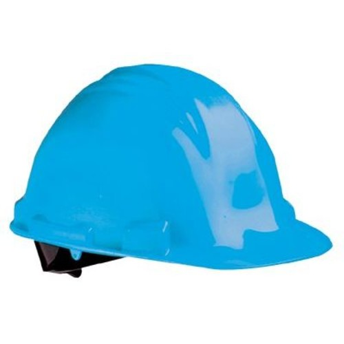 North Safety Peak Hard Hats - navy blue safety cap poly. shell 4 point suspen. [Navy Blue]