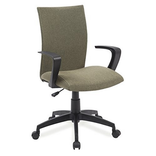 Leick Furniture Leick 10115GN Linen Apostrophe Office Chair with Black Caster Base, Sage Green