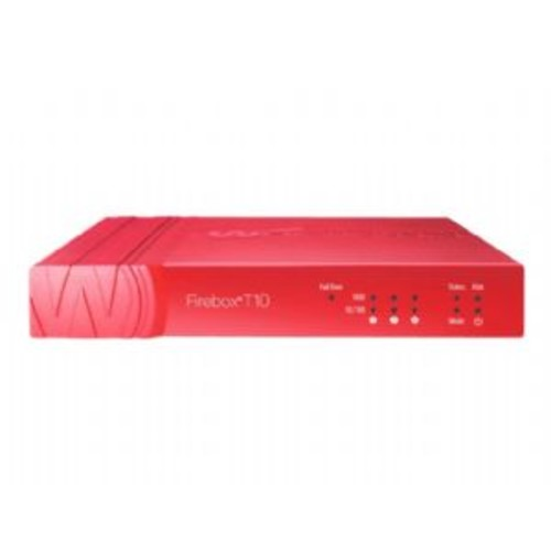 WatchGuard Firebox T10 - Security appliance - with 1 year Security Suite - 3 ports - 10Mb LAN, 100Mb LAN, GigE