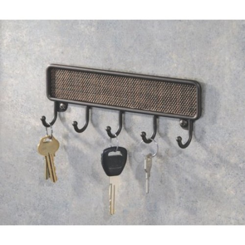 InterDesign Twillo Wall Mount Key Rack  Organizer Hooks for Entryway or Kitchen, Bronze: Home & Kitchen [Key Rack]
