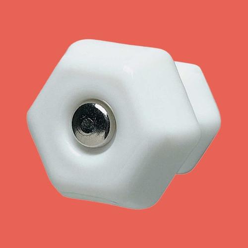 Cabinet Knob Milk Glass 1 1/4 Dia W/ Chrome Screw | Renovator's Supply