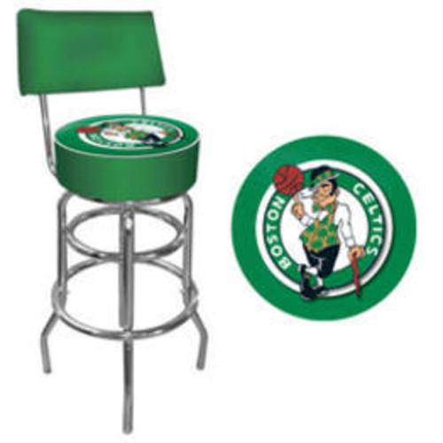 Trademark Boston Celtics Nba Padded Swivel Bar Stool With Back NBA1100-BC