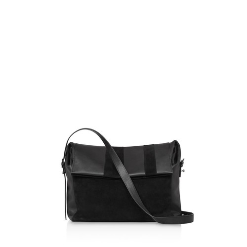 ALLSAINTS Casey Suede And Leather Shoulder Bag
