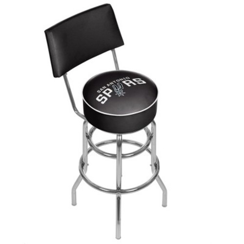Trademark Games San Antonio Spurs Padded Swivel Bar Stool with Back