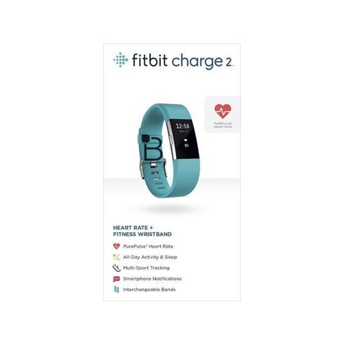 Fitbit Charge 2 Heart Rate and Fitness Wristband Small - Teal