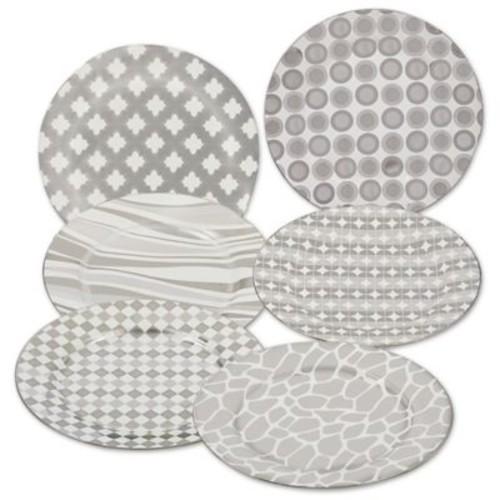 Certified International Elegance Silver Tapered Dessert Plates (Set of 6)