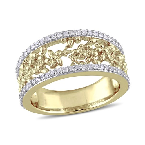 Diamond Foral Ring