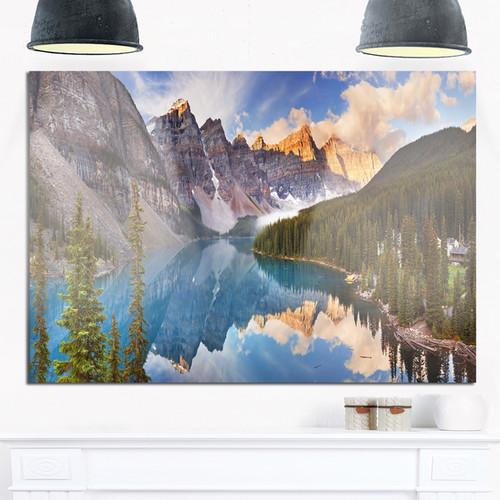 Moraine Lake in Banff Park Canada - Landscape Glossy Metal Wall Art