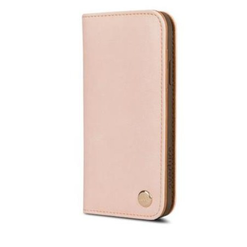 Moshi Overture Vegan Leather Wallet Case for iPhone X, Luna Pink