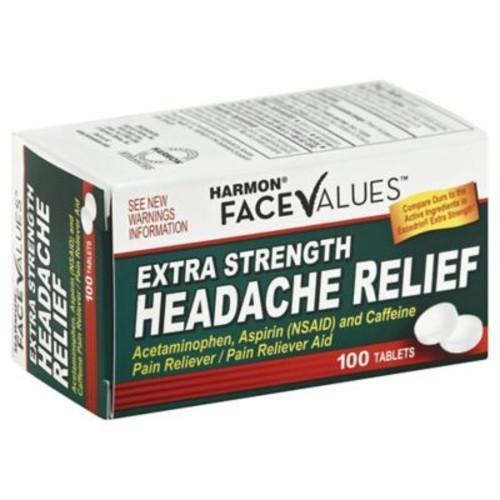 Harmon Face Values Extra Strength 100-Count Headache