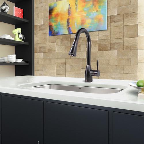 VIGO VG02013ARB Antique Rubbed Bronze Pull-Out Spray Kitchen Faucet [VG02013ARB; Antique Rubbed Bronze; Sale]