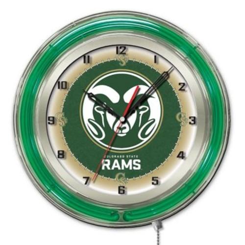 Holland Bar Stool NCAA 19'' Neon Clock; Colorado State Rams