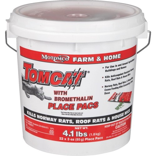 Tomcat Rat And Mouse Poison Pellet Place Pacs - BL22022