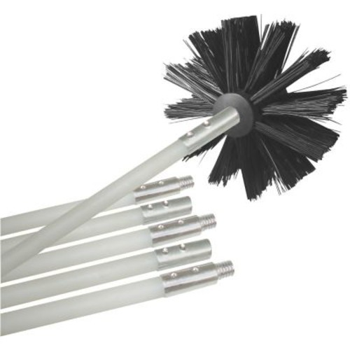 Deflecto Dryer Duct Cleaning Brush Kit, 12', White/Black