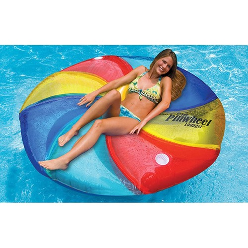 Swimline Pinwheel Inflatable Island Pool Lounger