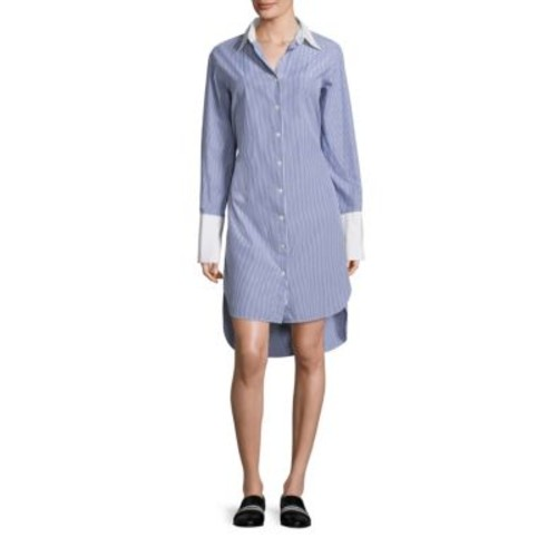 RAG & BONE Essex Striped Cotton & Silk Shirtdress