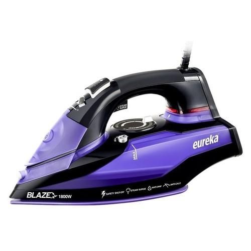 Eureka Blaze Original 1,800-watt Iron with Powerful Steam Surge Technology and Purple Storage Pouch