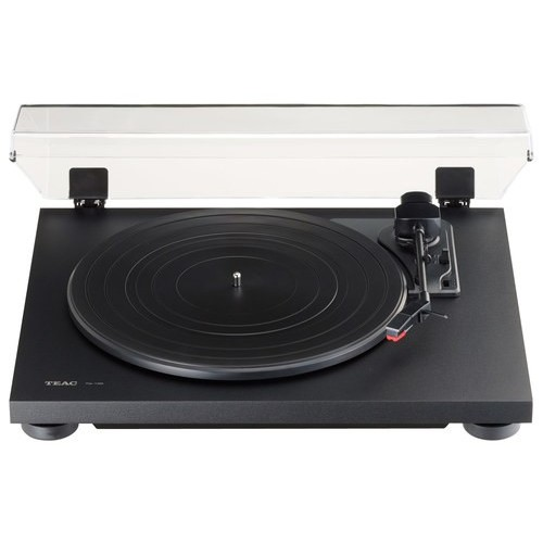TN-100 Belt-Drive Stereo Turntable with Preamp and USB (Flat Black)