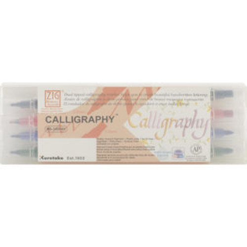 Zig Memory System Calligraphy Dual-Tip Markers 4/Pkg