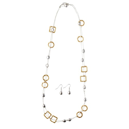 Two-Tone Long Necklace