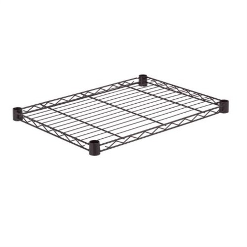 Honey Can Do Steel Wire Shelf for Storage Shelving Unit, Black