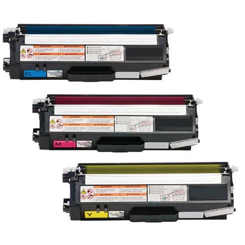 3-pack Replacing Brother TN336 TN-336C 336Y 336M Cyan Magenta Yellow Toner Cartridge