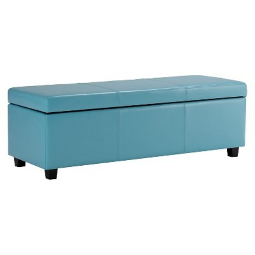 Avalon Large Rectangular Storage Ottoman Bench - Simpli Home