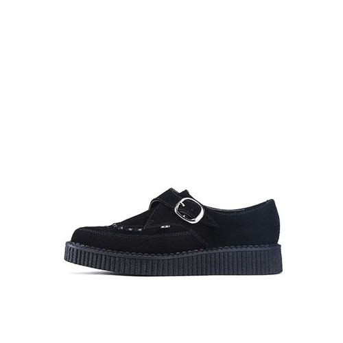 Pointed Black Suede Creepers