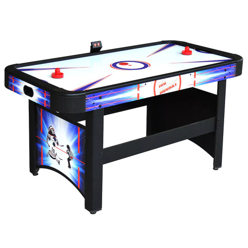 Hathaway Patriot 5' Air Hockey Table with 110 V Electric Bower Electronic Scoring System and Dual Goal Boxes