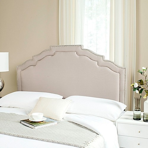Safavieh Alexia Upholstered King Headboard in Taupe