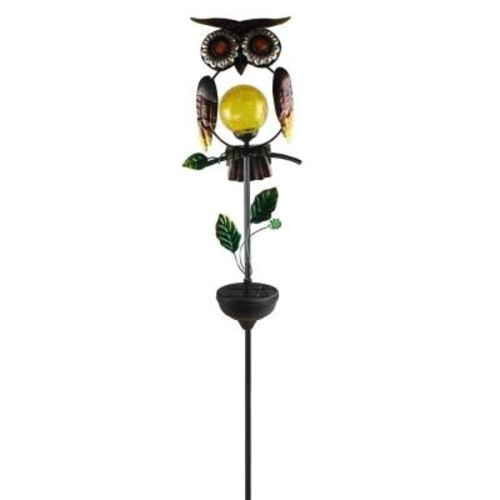 Moonrays Owl Solar Powered Integrated LED Outdoor Landscape Stake Light