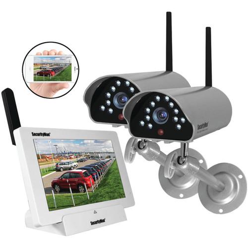Securityman DIGILCDNDVR2 Indoor/Outdoor iSecurity Digital Wireless Camera System