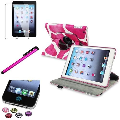 INSTEN Multi-Color 360 Rotating Swivel Leather Case Cover Stand For Apple New iPad Mini 3 / 1 / 2 with Retina Display