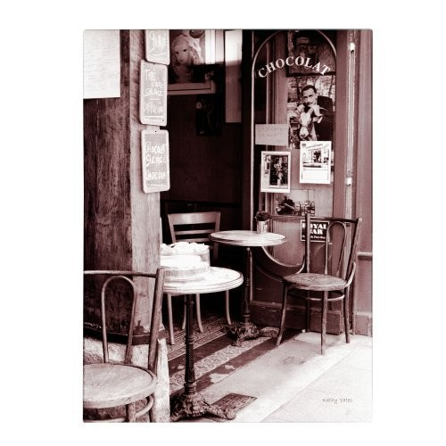 Paris Cafe by Kathy Yates, 35x47-Inch Canvas Wall Art