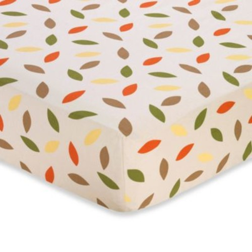 Sweet Jojo Designs Forest Friends Fitted Crib Sheet in Mini Leaf Print