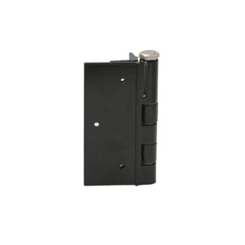 FORGERIGHT 5 in. Black Aluminum Fence Self-Closing Gate Hinge