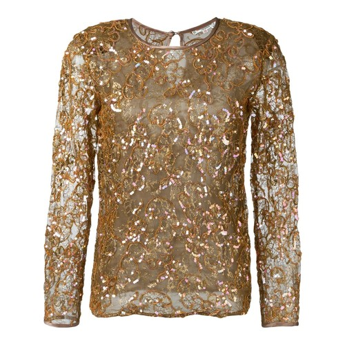 YVES SAINT LAURENT VINTAGE Sequins Embroidered Top