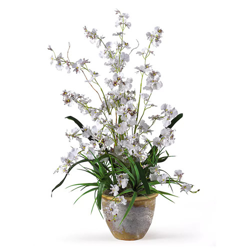 Nearly Natural 1005-WH Dancing Lady Silk Orchid Arrangement [Flower]