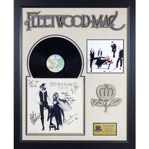 Fleetwood Mac Rumors Signed LP Album in Wood Frame with COA