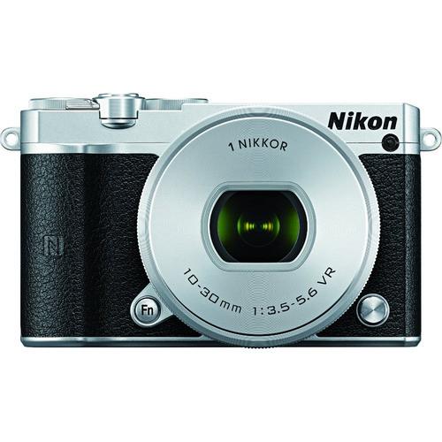 Nikon 1 J5 Mirrorless with NIKKOR 10-30mm f/3.5-5.6 VR Lens, Silver 27709