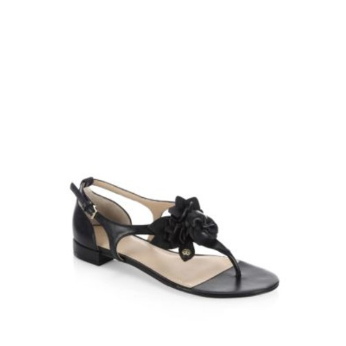 Blossom Leather Thong Sandals