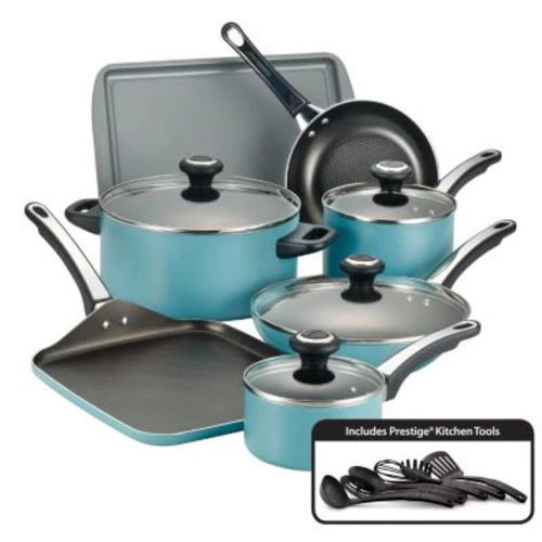 Farberware High Performance 17-pc. Aqua Cookware Set