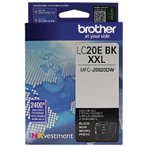 Brother INKvestment LC20EBK Extra High Yield Black Ink Cartridge
