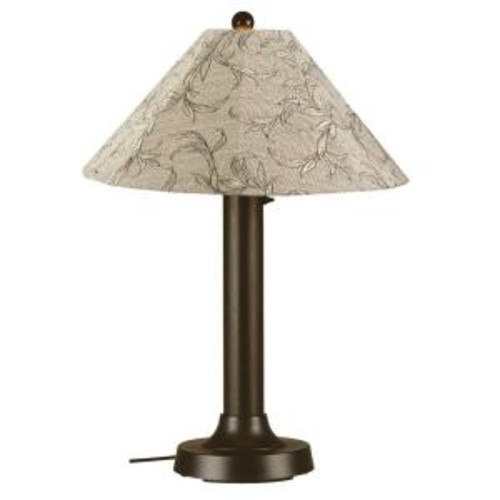 Patio Living Concepts Seaside 34 in. Outdoor Bronze Table Lamp with Bessemer Shade