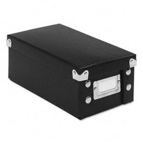 IdeaStream SNS01573 Snap N Store Collapsible Index Card File Box Holds 1100 3 x 5 Cards Black