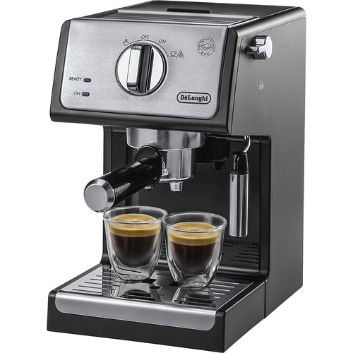 DeLonghi - Espresso and Cappuccino Maker - Stainless Steel