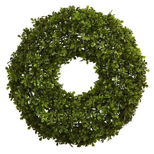 Nearly Natural 22 in. Boxwood Wreath