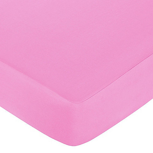 Sweet Jojo Designs Pink and Orange Butterfly Collection Fitted Crib Sheet in Pink