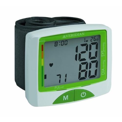 Veridian 01-516 Jumbo Screen Premium Digital Blood Pressure Wrist Monitor [Black, Various]